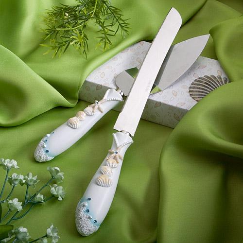 包邮结婚婚礼用品婚庆道具蛋糕刀叉匹萨刀铲 浪漫海洋主题刀铲