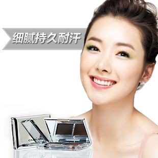 Counter genuine attitude blue sweat resistance of double effect lasting brow powder and smooth moving