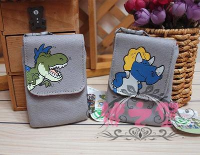 The old authentic German NICI Halter dinosaur print canvas fabric bag or purse phone / 32205
