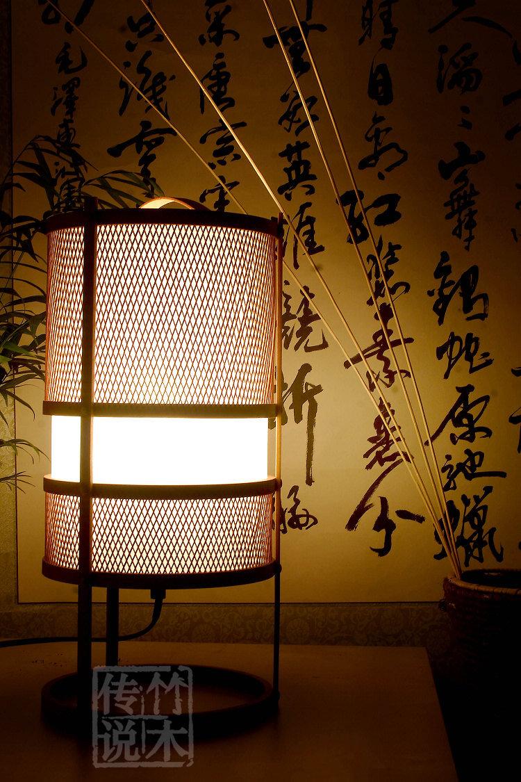 【迷醉】中式台灯日式台灯 田园竹灯具 客厅灯卧室床头灯书房灯图片