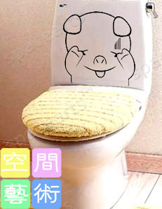 Наклейки для туалета Персонажи мультфильмов Комплект Средний размер