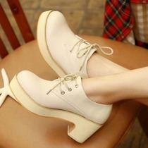 2012 New England autumn wind OL temperament coarse with thick-soled shoes head shoes simple Korea high heels