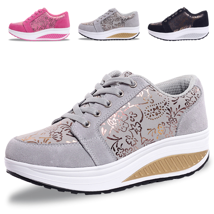 PA inspection/summer leather rocking sneakers women sneakers women's shoes rise shoes Korean fashion casual shoes