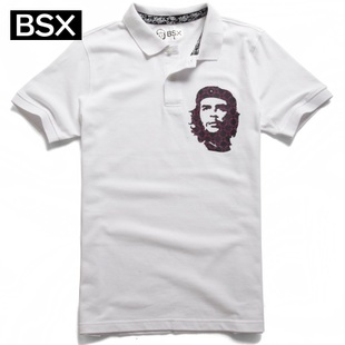 Giordano men's BSXPolo classic MINI CHE portrait printing in summer 2012 POLO90011100