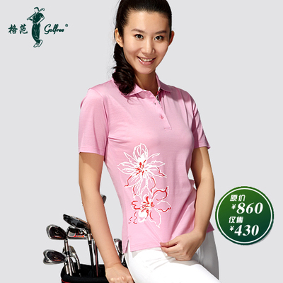 Paradigm golfree golf apparel Egyptian cotton / bloom fashion women's short sleeve T-shirt