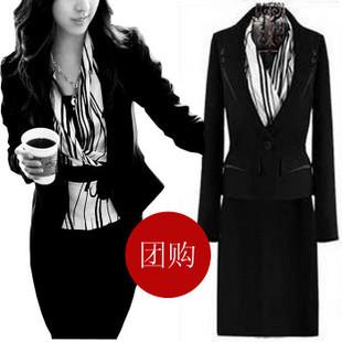 正品新款夏装职业套裙韩版职业装时尚女性西装职业套装假三件套 - yoyotaobao - 一起一起