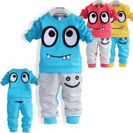 外出服純棉套裝1-2歲小童裝男童春裝