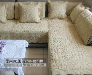 Daina 350g cotton home textile small stone summer slip sofa cushion cushion fabric thick sturdy wood sofa cushions