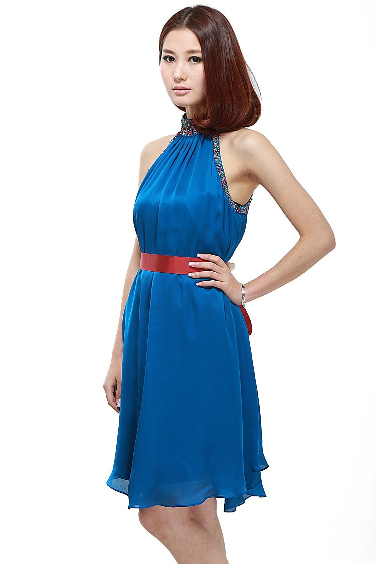 Вечернее платье Британских роскошных бренда синий костюм £ 160 британский синхронизации 2011