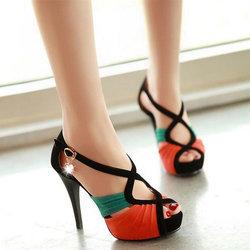 2014夏季新款凉鞋高跟鞋鱼嘴鞋优雅单跟细跟性感防水台女鞋时尚鞋