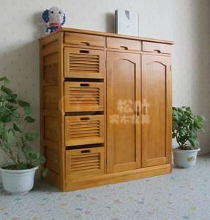 特价实木果蔬柜 简约现代厨房家具餐边柜 电器柜 碗筷柜汇林轩