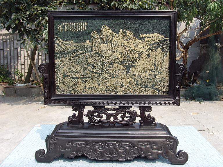 Деревянная резная фигурка Фиолетовый Тан Джейд экран фабрика точек/ремесла Подарки украшения иностранных гостей двойной 11 скидки