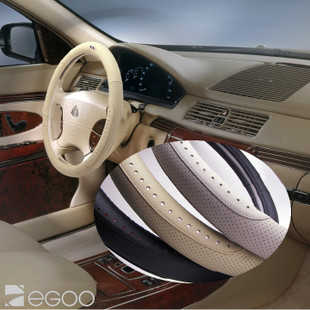 Zegoo pig leather car steering wheel cover leather car steering wheel cover car