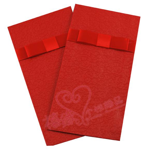 婚庆用品 婚礼红包 蝴蝶结红包 万元红包(3.8元/个)