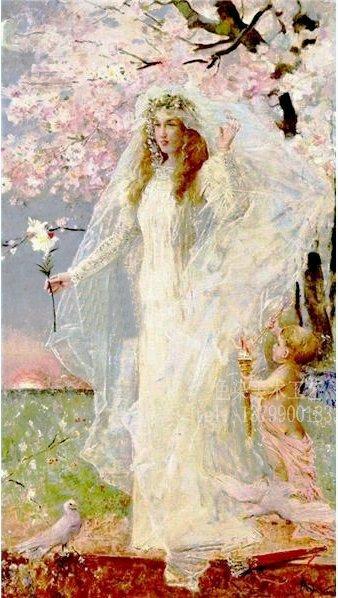 手绘欧式古典美女贵妇人物油画定做yh3056临摹世界