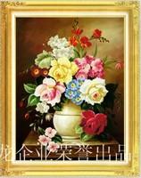 一秀堂DNC5D立体精准100%印花十字绣百花争艳花卉欧式风格szx