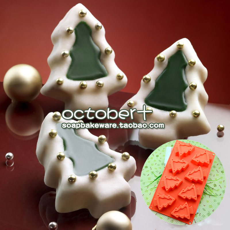Silicone Bakeware Multi Cake Pan Christmas Tree mold圣诞树模