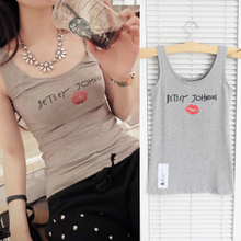 The new han edition 2015 Letters home leisure joker red lip perfume bottle printing condole belt unlined upper garment of cotton vest
