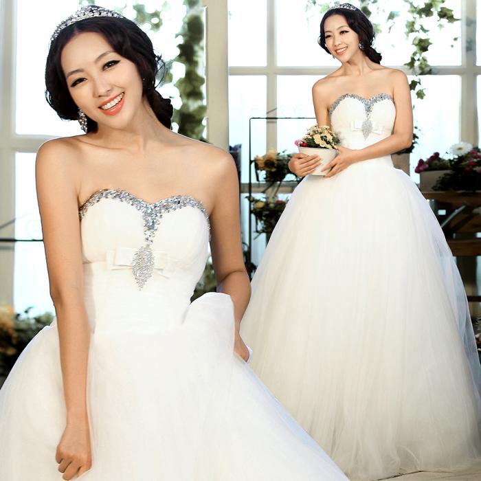 Свадебное платье Princess tribe 10018 2012 2012 Органза Принцесса с кринолином Корейский