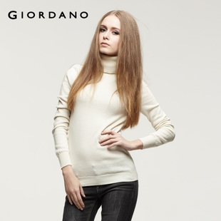 2012 Giordano knit  dress, soft high collar wool cotton knitwear 01351503