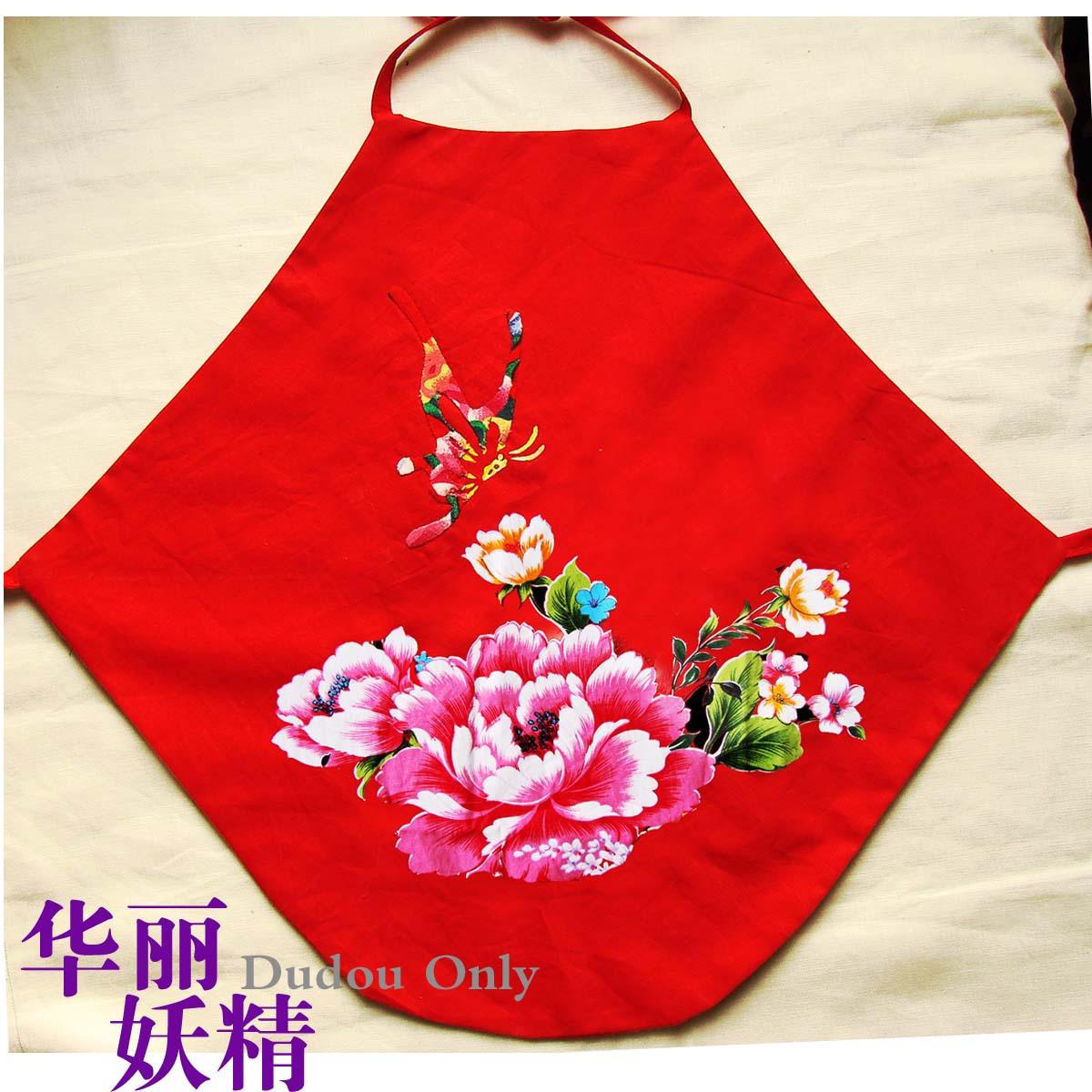 Топ на завязках Было прекращено Рождество фартук/Тайвань цветок хлопка выстегивать новый красный фартук dielianhua