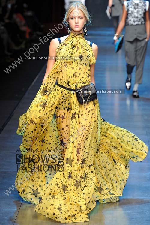 Женское платье Шоу моды Dolce & Gabbana ночные сорочки