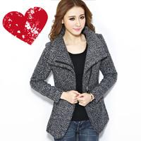 2013秋冬新款韩版女装小香风呢子大衣风衣修身中长款妮子毛呢外套