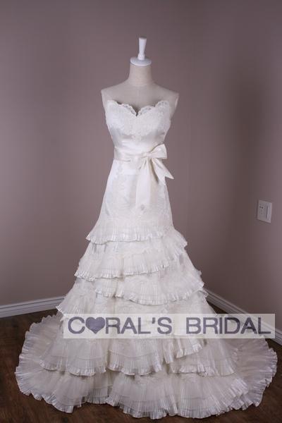 Свадебное платье Coral's Bridal Кружево Небольшой шлейф