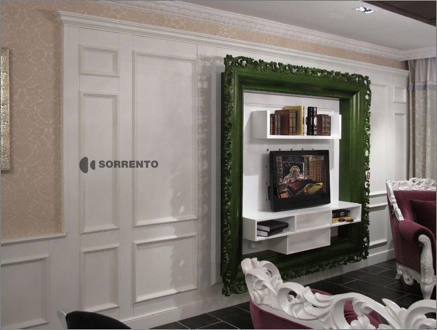 索伦托定制定做实木护墙板墙裙板欧式木墙裙装饰板paulin保兰01图片