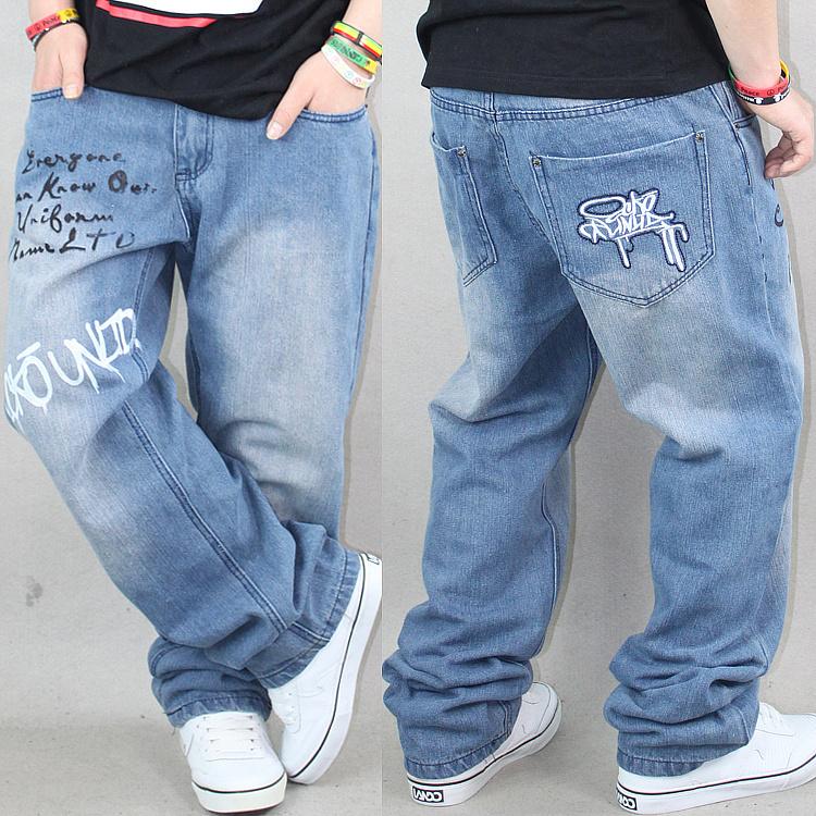 Джинсы мужские Ecko HIPHOP Широкие Классическая джинсовая ткань Хип-хоп стиль