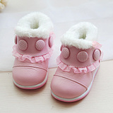 Autumn and winter baby shoes Princess shoes baby shoes toddler shoes soft bottom 1-2 years