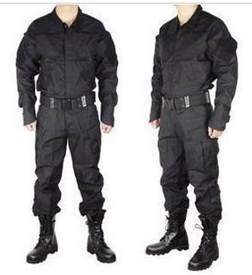 Three U.S. military training uniform black / security duty physical ...