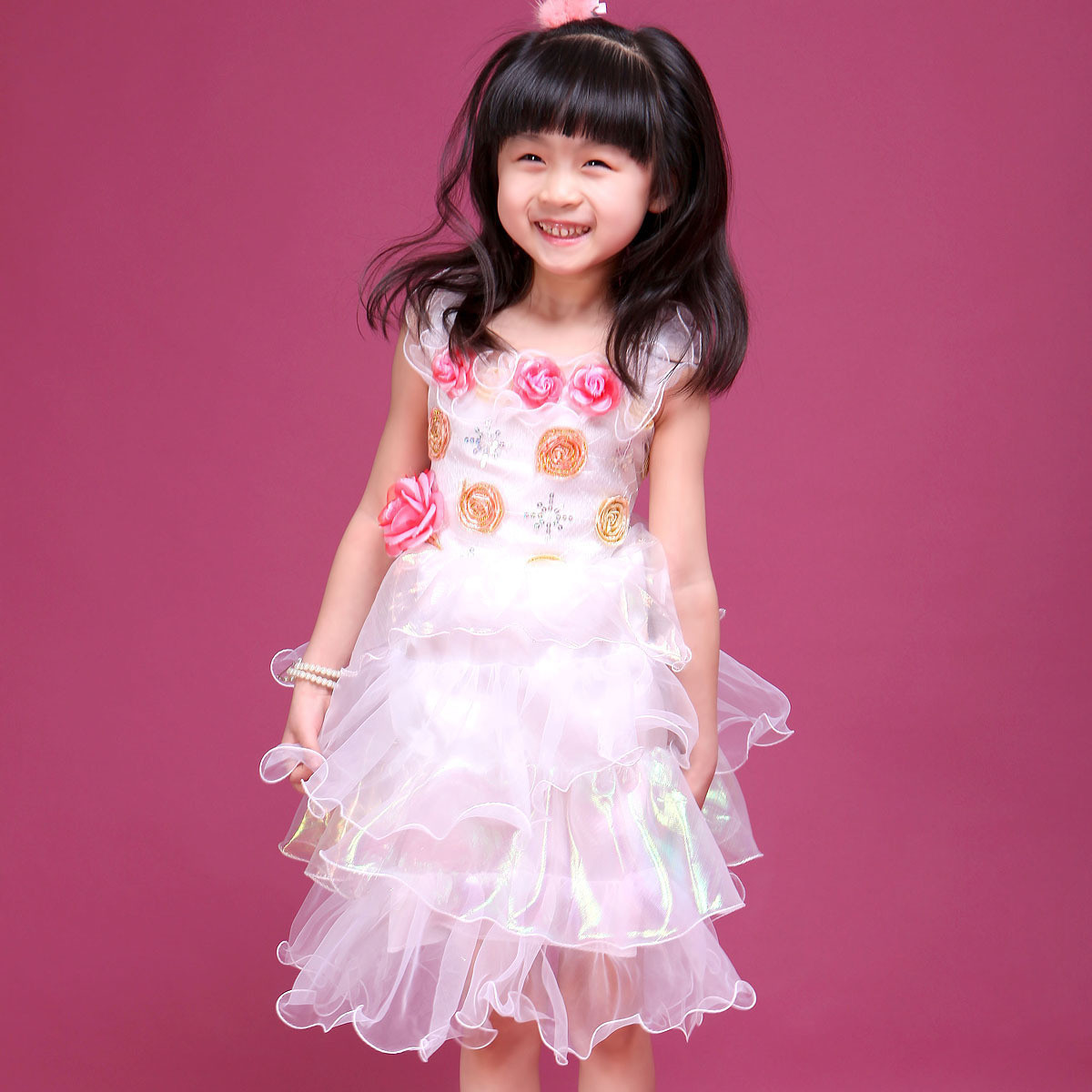 Детская одежда для танцев 82land f30095 120 Девушки Нарядная одежда