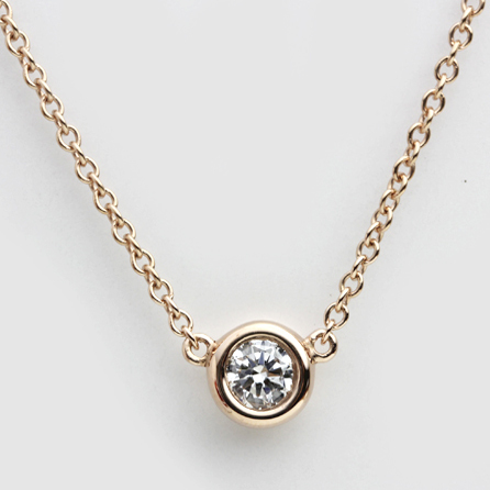 S gold 18K white gold diamond necklace diamond pendant diamond rose gold lock necklace pendant bone woman