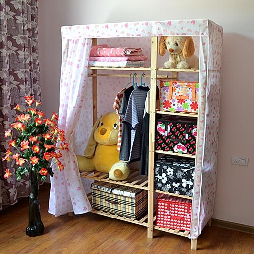 гардеробный шкаф Специальный 190 высокий большой шкаф простое сочетание твердый шкаф древесины IKEA дважды сложить ткань шкаф Шкаф