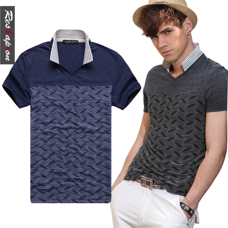 short-sleeve+t-shirt+men+fashion+Polo+shirts+of+England+skinny+small+collar+short+sleeve+polo+man+0322