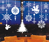 Betu One hundred chart wall stickers New Year Christmas ornaments decorated shop window glass snowflake Christmas flower applique ball 3