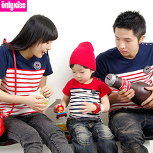 Korean version of the 2013 summer family portrait Family fitted short-sleeved T-shirt a three mother and daughter loaded all home improvement