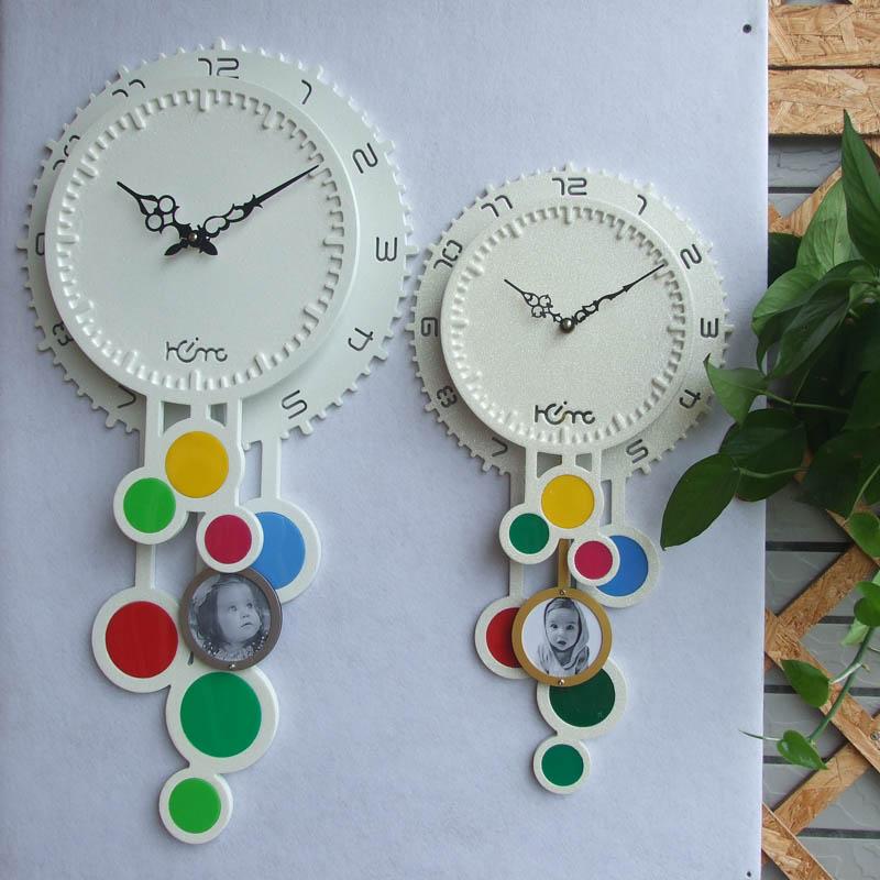 灵家客厅挂钟简约时尚家居空间个性创意艺术欧式田园百搭挂钟挂表