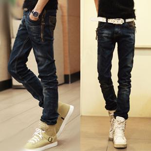 Джинсы мужские Others 2012 Облегающий покрой Стандартная джинсовая ткань Модная одежда для отдыха 2012