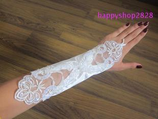 Qingguo bride-wedding dress wedding dresses wedding dress gloves Lace Gloves S004