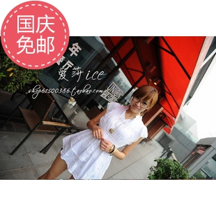 женская рубашка Han Shan sr82220 Оригинальный дизайн Без рукавов Однотонный цвет Воротник-стойка