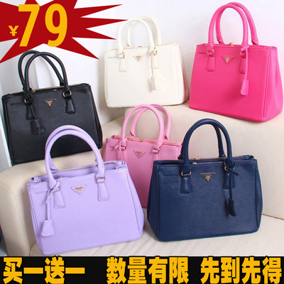 2014 new wave of female winter handbag shoulder bag Messenger bag cross pattern spy killer original leather bag large bag