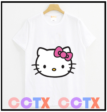 热卖HELLO KITTY KT猫T恤KT猫衣服推荐女生少女春夏短袖T恤