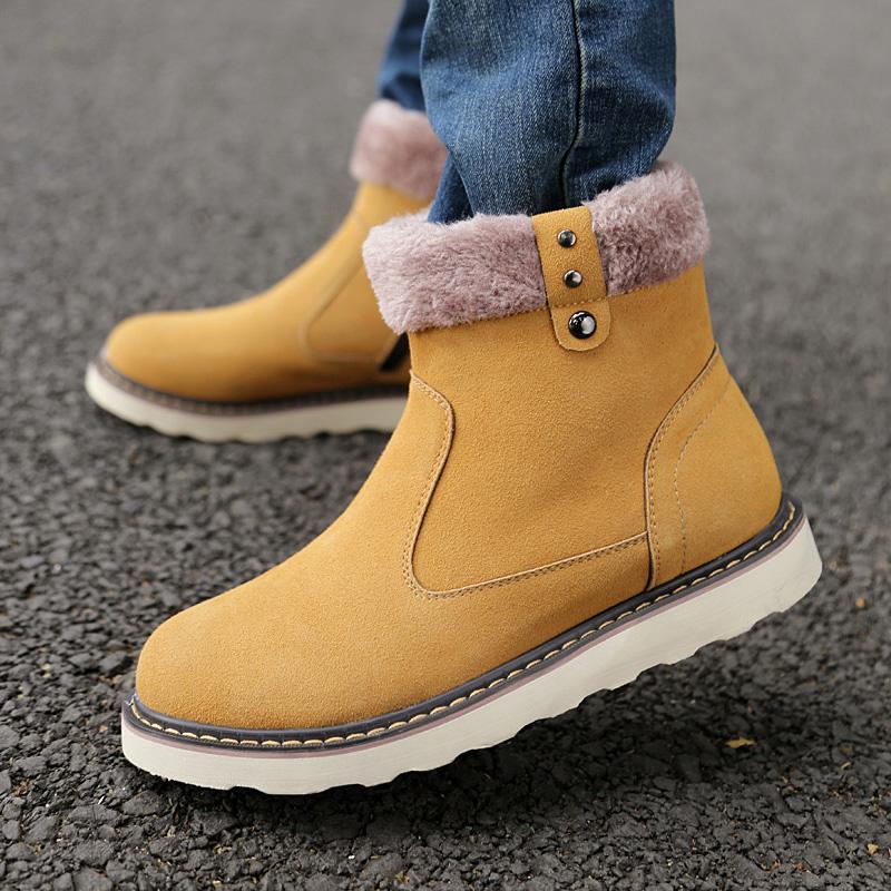 雅煊冬季新款保暖棉靴男靴马丁靴特种兵男士短靴冬靴大头高帮棉鞋图片