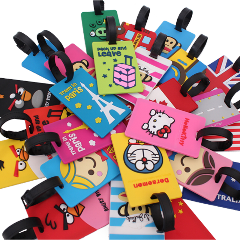 Travel Korea cartoon suitcase luggage tags checked card card card luggage tag