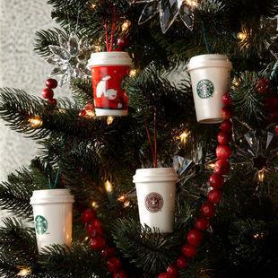 星巴克 starbucks 随行杯造型圣诞树挂饰