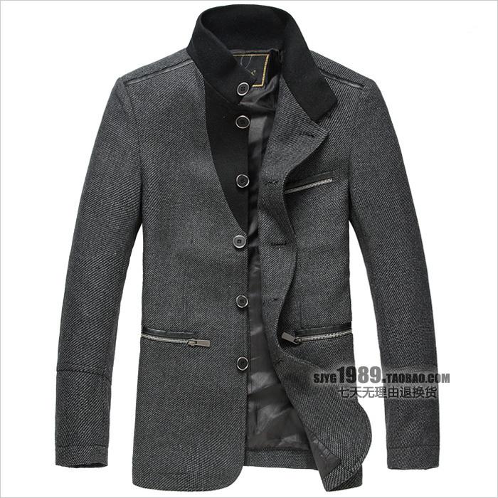 Пальто мужское Sj yigui SJYG Без воротника со стойкой
