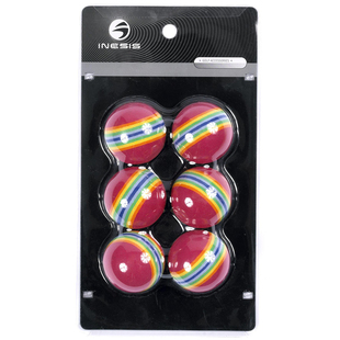 [New products] Decathlon ball INESIS Golf stripe Stripes Balls X6