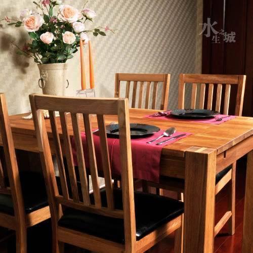 """宜家风格/厂家出口欧式实木环保橡木/1.2米餐桌""""今尚"""""""